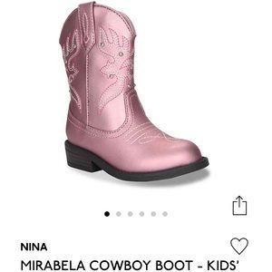 *NEW* Nina cowboy mirabela boots toddler